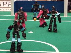 "International soccer robot contest ""RoboCup"""