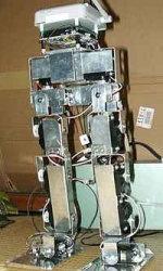 はじめロボット1号機:歩行テスト (2002)