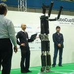 等身大ヒューマノイドロボット33号機の挨拶