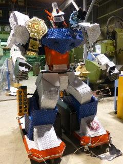 HJM-47とリアルロボットバトルのチャンピオンベルト
