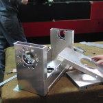 Sheet-metal working of the hip frame (Nishizaki Co, Ltd.)