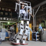 Walking on the robot(with body)