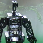 Middle size humanoid robot