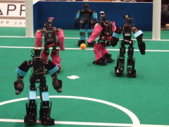"International soccer robot contest ""RoboCup"""