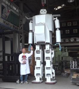 Hugel humanoid robot (4m tall)