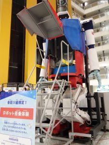 4メートルロボットの搭乗体験の写真