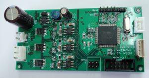 ブラシレスDCモータ制御基板の写真(表)