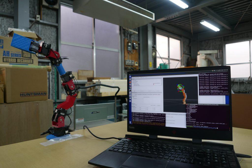 ROSからロボットアームの実機を動かす