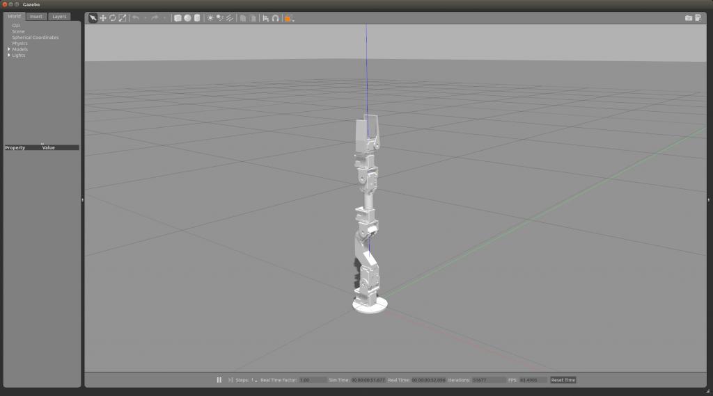 Gazeboでロボットアームをシミュレーション