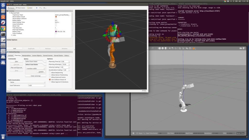 ROSのシミュレーション画面