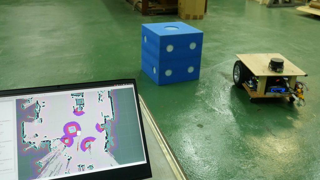 ロボットカートをナビゲーションで動かす