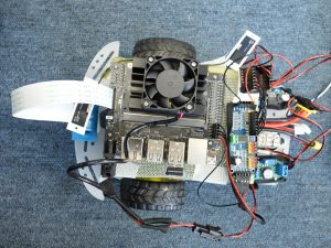 JetBotの部品配置と配線