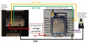 ESP8266とPixhawkの接続