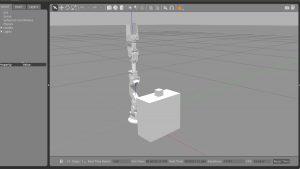 Gazeboでロボットアームをシミュレーション(tableとboxモデルあり)